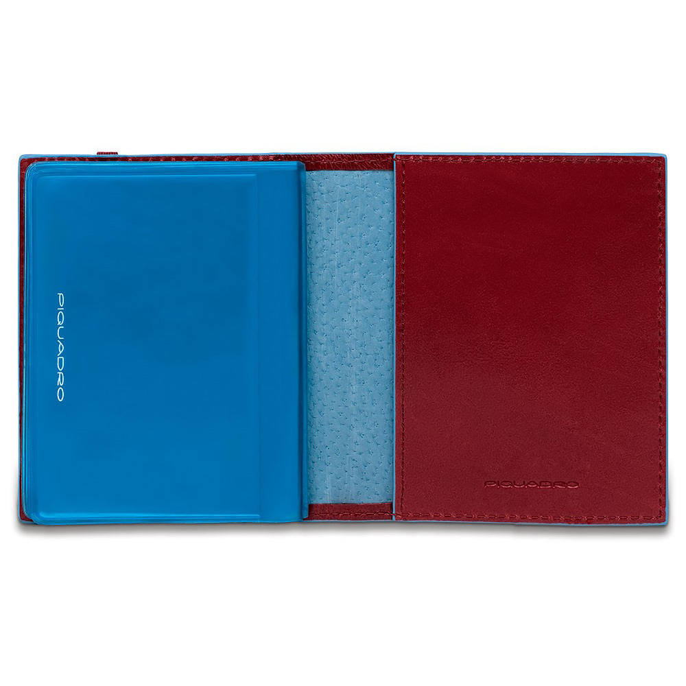 Чехол для кредитных/визитных карт Piquadro Blue Square, цвет красный, 8,8x10,5x1,2 см (PP1395B2/R)