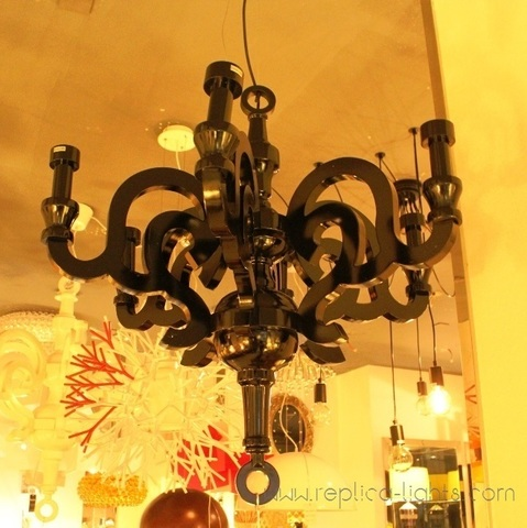 replica Paper chandelier lamp black D70
