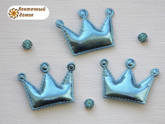 Мягкие короны средние голубые