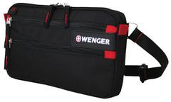 Сумка поясная Wenger Waist Bag, черная/красная, 32х3х17,5 см