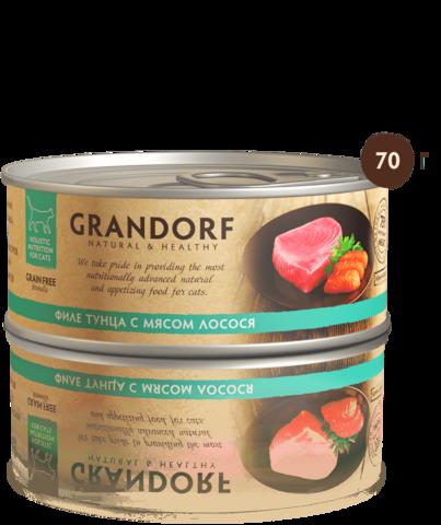 Консервы Grandorf Tuna with Salmon in Broth