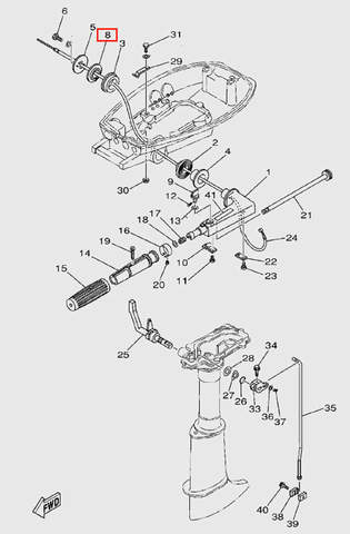 Вкладыш  для лодочного мотора  T5 Sea-PRO