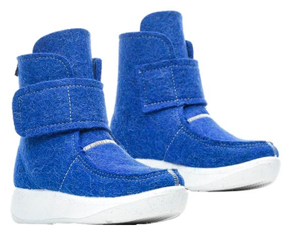 Валеная обувь Сапоги войлочные короткие голубого цвета 14523гол.png