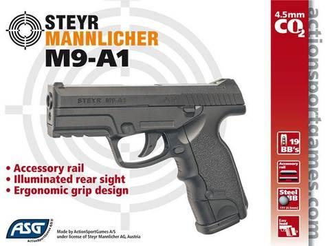 Steyr M9-A1 пистолет пневматический, пластик