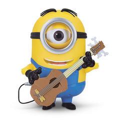 Миньон Стюарт с гитарой интерактивная игрушка Soft Skin 23 см