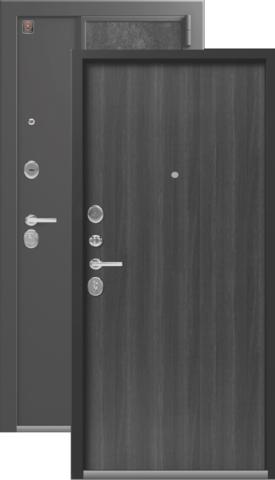 Тёплая дверь входная Легион L-7, 2 замка, 1,5 мм  металл, (серый шёлк+венге табакко)