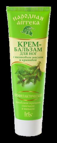 Iris Народная аптека Крем-бальзам для ног профилактический с пихтовым маслом и крапивой 100мл