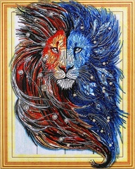 Царь природы- алмазная картина с фигурными стразами, FKU001
