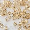 5328 Бусина - биконус Сваровски Crystal Golden Shadow 3 мм, 10 штук