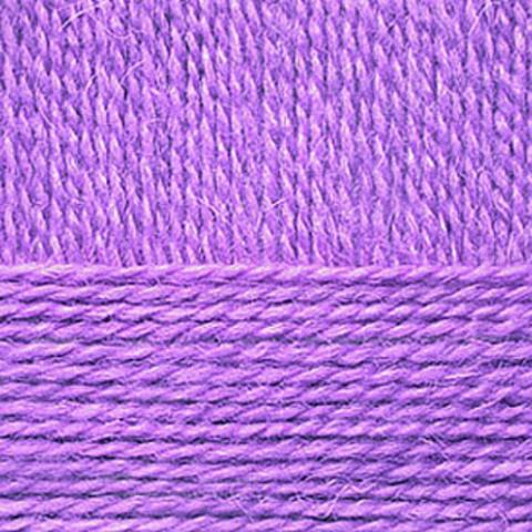 Пряжа Смесовая (Пехорка) 178 Светло-сиреневый - фото