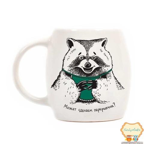 Чашка Енот