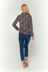Леопардовая блуза Lolly на белом