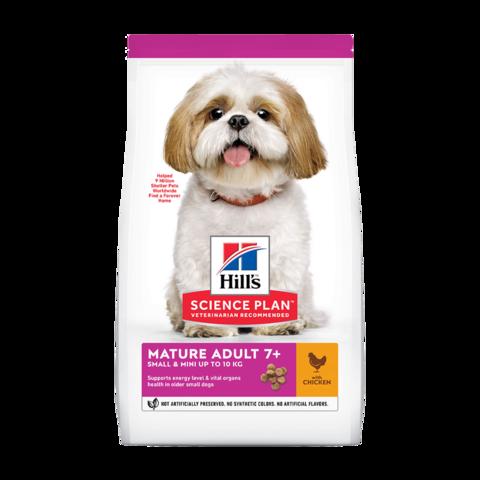 Hill's Science Plan Active Longevity Small & Mini 7+ Сухой корм для пожилых собак мелких пород для поддержания активности и здоровья желудочно-кишечного тракта с курицей