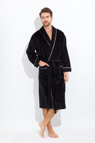 Elegant 1588 черный  махровый  мужской халат  PECHE MONNAIE   Россия