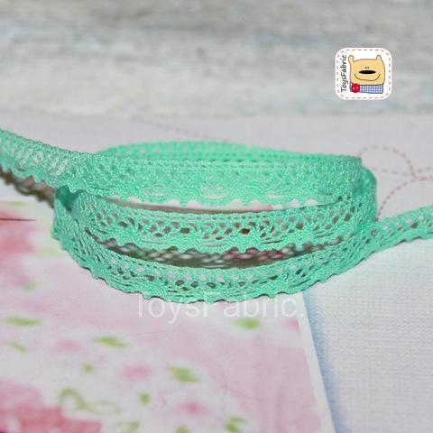 Кружево вязаное СК04-М (мятное) 90см