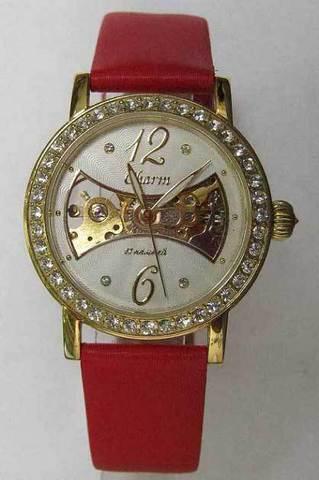 """Купить Наручные часы Полет """"Charm"""" 62996001 красный ремень по доступной цене"""