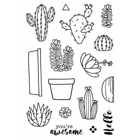 Набор силиконовых штампов -Cactus
