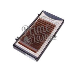 Ресницы Beautier темно-коричневые шелк микс 16 линий