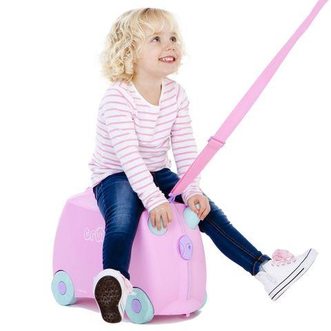 Чемодан на колесах Рози, розовый
