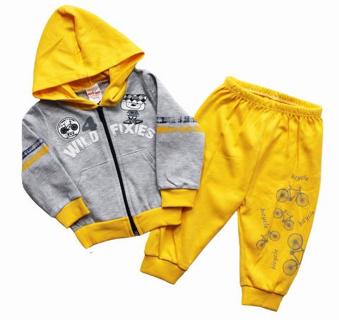 Костюм для мальчика джемпер+брюки желтый