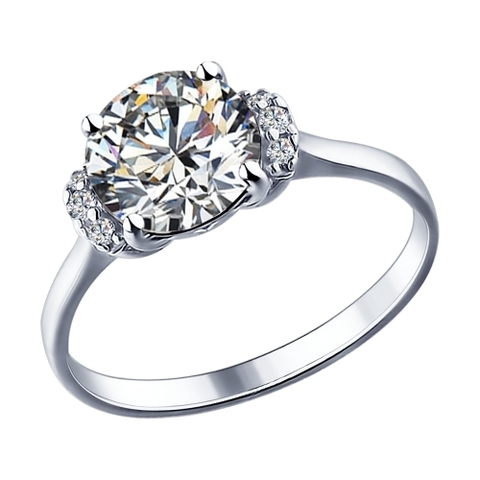 Кольцо из серебра со SWAROVSKI арт.89010018