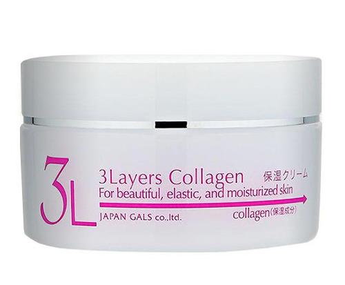Увлажняющий крем с 3 видами коллагена 3Layers Collagen, Japan Gals