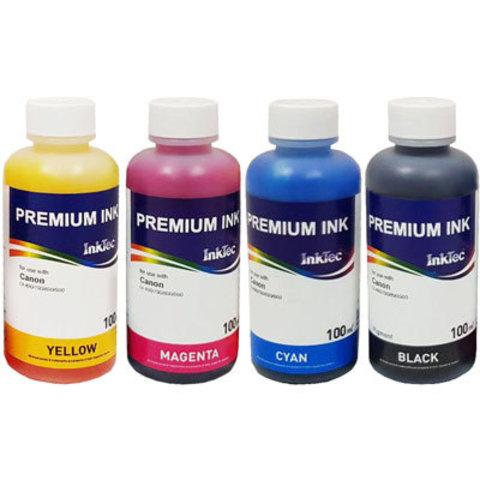 Комплект чернил Inktec для Canon PIXMA MG3640S. 4 цвета по 100 мл.