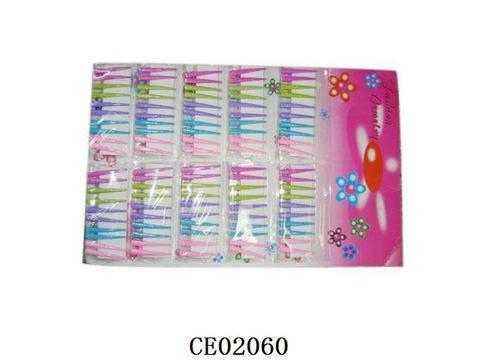 СПЕЦЦЕНА Заколки д/волос 120шт на лсите цветные/СЕ02060
