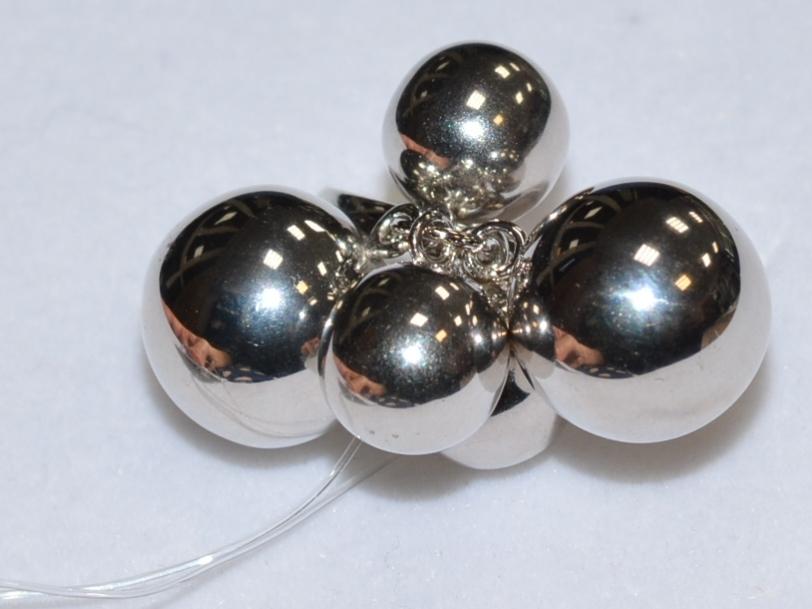 Шарики 2+3 (кольцо из серебра)