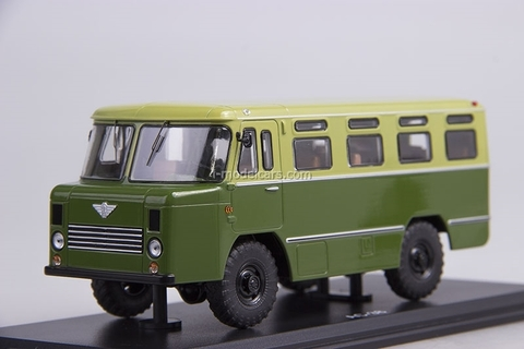 GAZ-66 AC-38 Army Bus khaki-green-light 1:43 Start Scale Models (SSM)