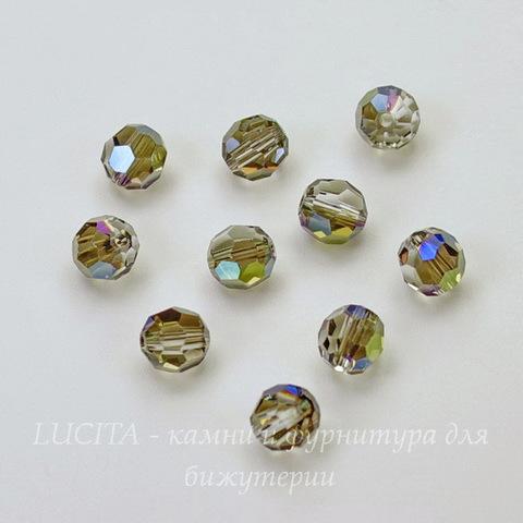 5000 Бусина - шарик с огранкой Сваровски Crystal Iridescent Green 6 мм