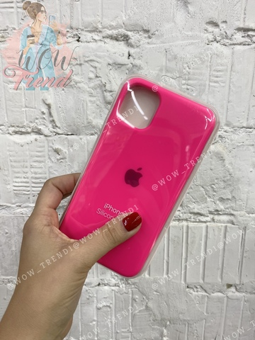 Чехол iPhone 11 Pro Max Silicone Case /electric pink/ ярко-розовый 1:1