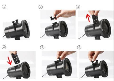 Проектор Led - 12 сменных слайдов