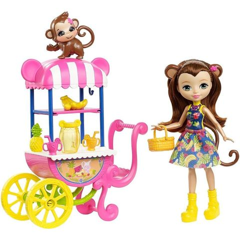 Кукла Энчантималс Мэрит Обезьянка с питомцем и фруктовой корзиной - Enchantimals, Mattel