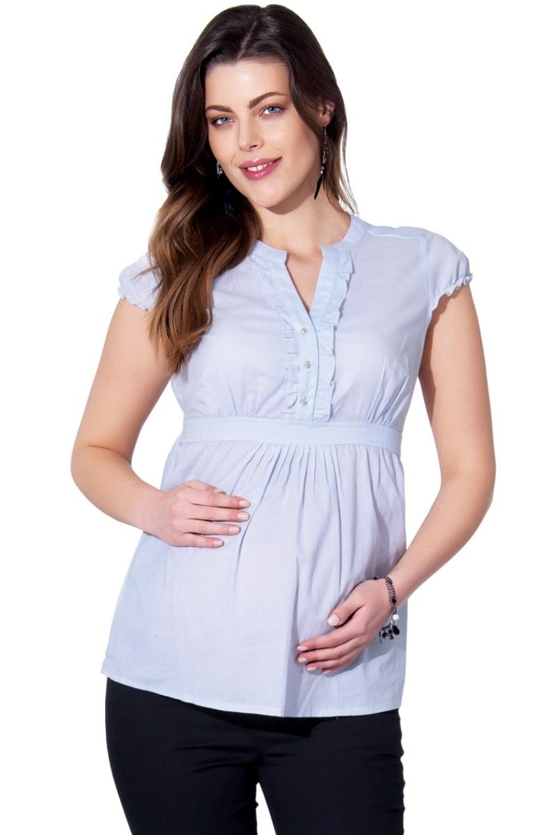 Блузка для беременных 01329 синий