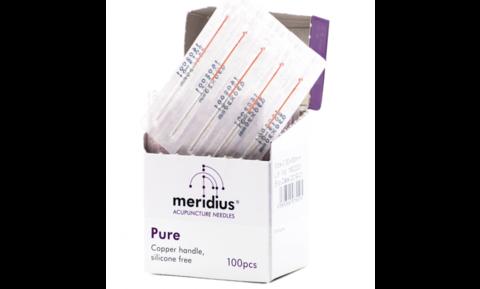 Иглы акупунктурные  Meridius® Pure, с медной ручкой, без направляющей, 100 шт