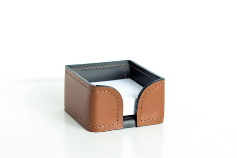 Лоток для блока бумаги  Buvardo серия БИЗНЕС из кожи Табак / шоколад