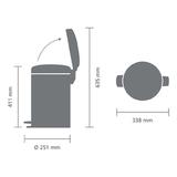 Мусорный бак newicon (12 л), Стальной матовый (FPP), арт. 112041 - превью 6