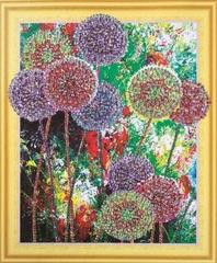 Радуга цветов- алмазная картина с фигурными стразами, FKU013