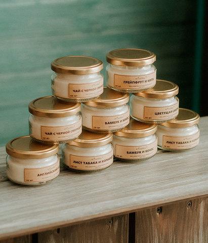 Свеча ароматическая Листья томата и базилик, Banka home