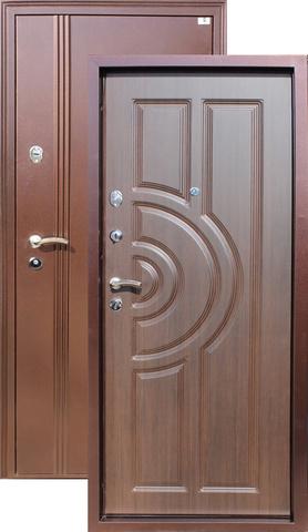 Дверь входная Город Мастеров Ангара, 2 замка, 1,5 мм  металл, (медь антик+венге)