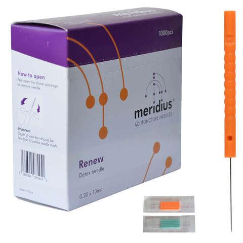 Одноразовые иглы для детокс процедуры  Meridius® Renew Detox 0,16 x 13 mm