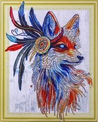 Звездная лиса- алмазная картина с фигурными стразами, FKU017