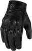 Мотоперчатки - ICON PURSUIT TOUCHSCREEN (женские, перфорированные, черные)