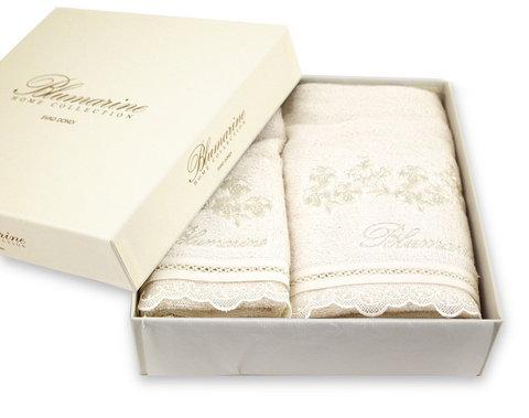 Набор полотенец 2 шт Blumarine Delizia молочный