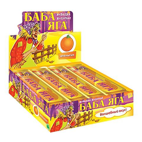 БАБА ЯГА апельсин, жев.конфета 48*12 11г.
