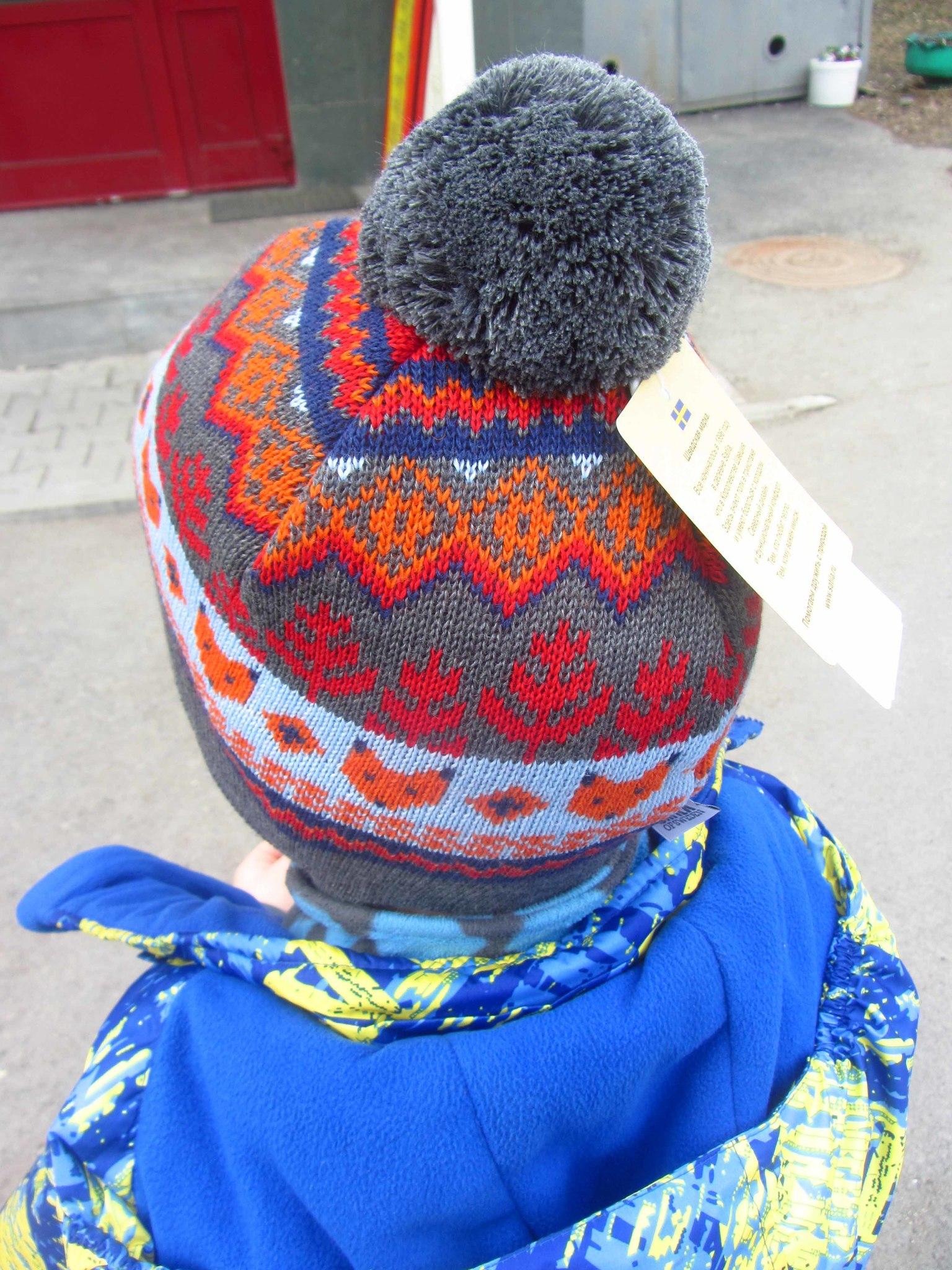 Шапка Satila Klevy, размер 53. Объем головы модели 54 см.