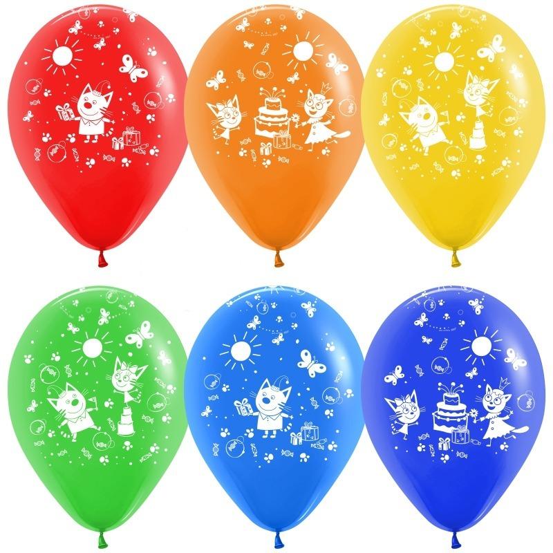 Воздушные шары Три кота (торт)