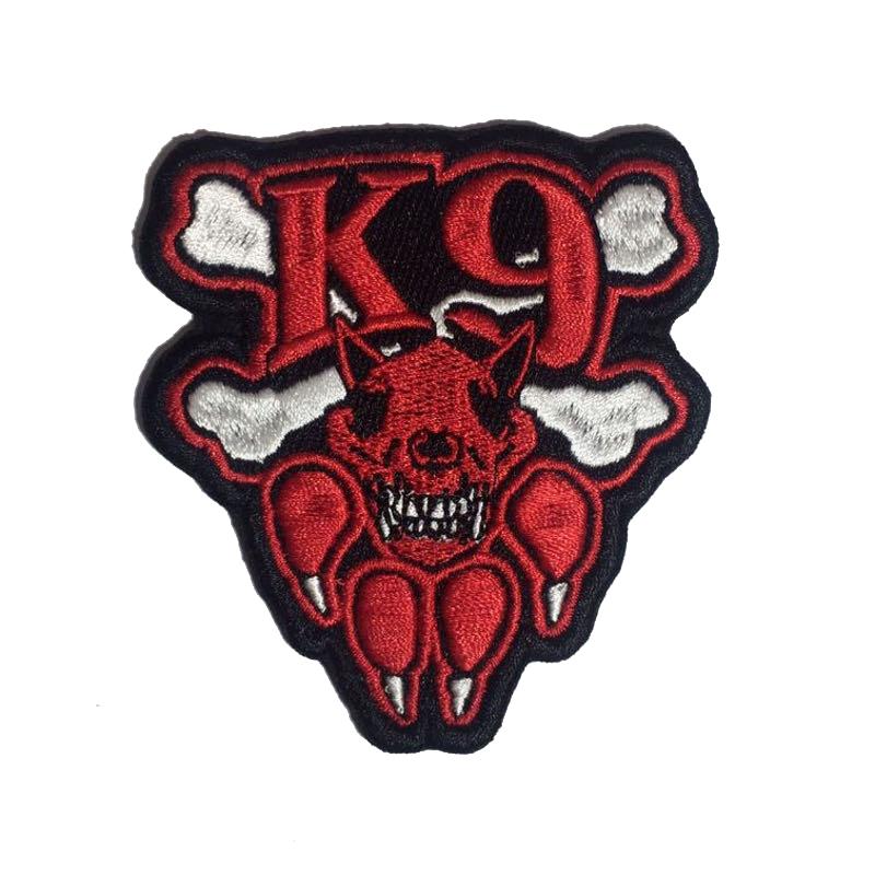 Шеврон К-9 красный