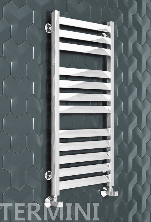 Termini E - электрический дизайн полотенцесушитель белого цвета
